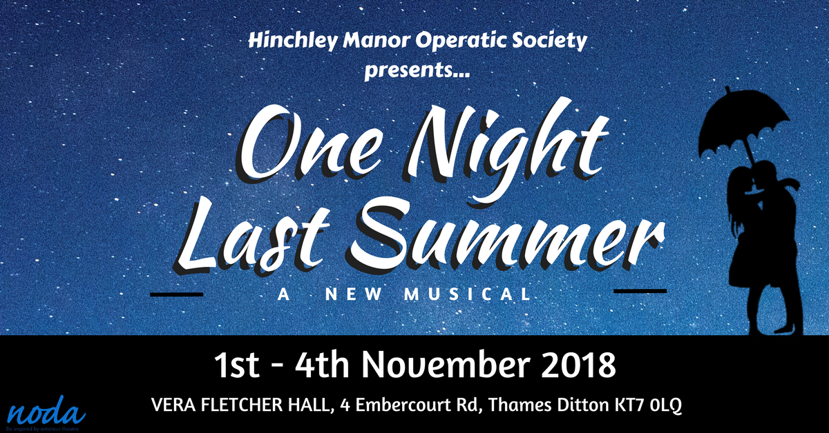 One Night Last Summer | A New Musical